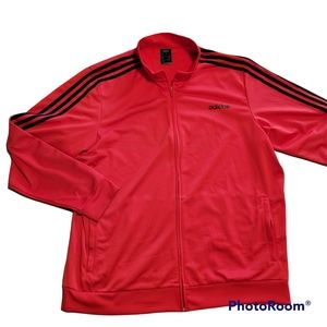 Adidas mens red and black track jacket